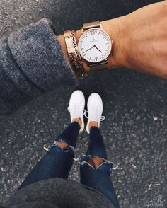 from where I stand with @debiflue who wears our timeless mesh watch | kapten-son.com