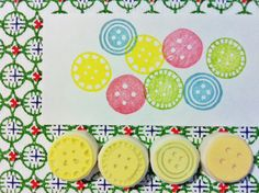 these could be cared into wine corks .. button rubber stamps.hand carved rubber stamp. by talktothesun, $20.00
