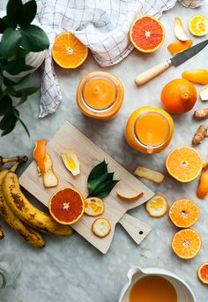 Pineapple Orange Banana Juice Vanilla & Turmeric - The Kitchen McCabe Healthy Food List, Diet Food List, Food Lists, Healthy Drinks, Healthy Recipes, Juice Smoothie, Smoothies, 5 Day Detox, Juice Packaging