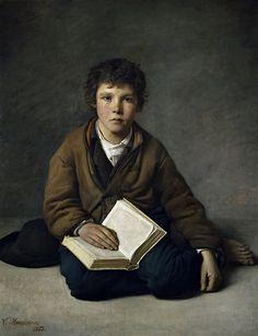 Víctor Manzano y Mejorada - A Seated Boy [1859]