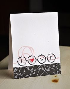 LOVE Card by Maile Belles for Papertrey Ink (December 2012)