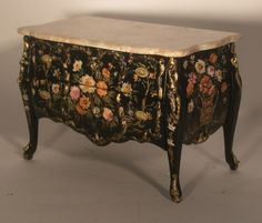 Summer Garden Commode by Renee Isabelle - $1,500.00 : Swan House Miniatures, Artisan Miniatures for Dollhouses and Roomboxes