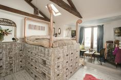 The master bedroom is like something out of a fairy tale!