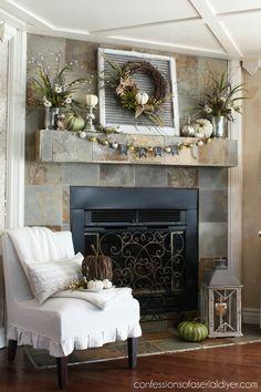 Fireplace Decorations updated fall fireplace decor | fall decor | pinterest | mantels