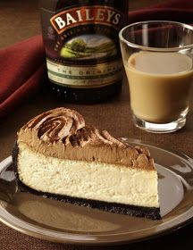 Bailey's Irish Cream cheesecake!! I LOVE Baileys! and I LOVEEEE Cheesecake even more! there could be nothing wrong with this! EVER!