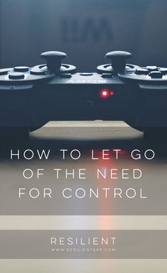When you think you control something, you're probably wrong. It's amazing how often we think we're in control of something when really we aren't. Control is an illusion. Here's how to let go of the need for control.