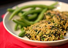 Fava, Spinach and Quinoa Cakes Bean Recipes, Vegetarian Recipes, Healthy Recipes, Vegan Vegetarian, Veggie Side Dishes, Vegetable Dishes, Fresh Bean Recipe, Quinoa Cake, How To Cook Quinoa