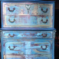 SOLD Vintage Dresser Aquamarine Dressser by DareToBeVintage