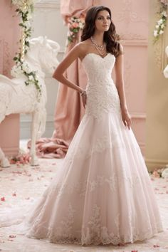 sale david tutera for mon cheri 115249 Adalynn price wedding dress with sweetheart neckline