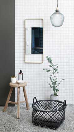 Hubsch Black Rattan Oval Basket - Large - Hubsch - BRANDS Simple, black, rattan large oval basket by Danish brand, Hubsch. A stylish storage solution for your bathroom or any other room. #hubsch #stylishstorage #rattanbasket #monochromedesign #homeandpantry #scandinaviandesign