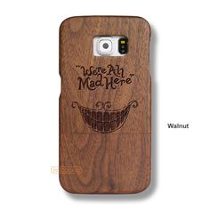 Ceshire Cat Galaxy S6 Case - Galaxy S6 Solid Total Wood Case - SDTRD0073