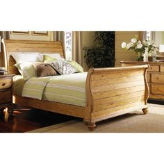 Hillsdale Furniture Hamptons Sleigh Bed - Blue  room - refinished