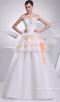 http://www.ikmdresses.com/Apple-A-Line-Empire-Strapless-Outdoor-Garden-Wedding-Dress-p20103
