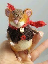 Фетровый 4 дюйма животных маленький коричневый мышиный художником Татьяна рысь