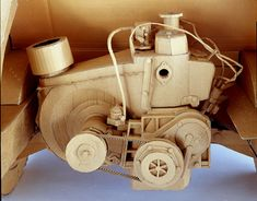 Cardboard sculptures: Chris Gilmour