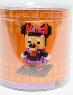 RARE Disney Minnie Mouse Halloween 2012 Kawada Nanoblock Nano Block JAPAN FIGURE