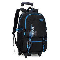Latest Removable Children School Bags With 2 Wheels Kids boys girls Trolley  Schoolbag Luggage Book Bags Wheeled Backpack b924cec94a175