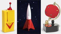 Crystal radios: Remco Tiny Tim, Miniman MG-305 rocket, and Current NP-81 Pincushion Radio