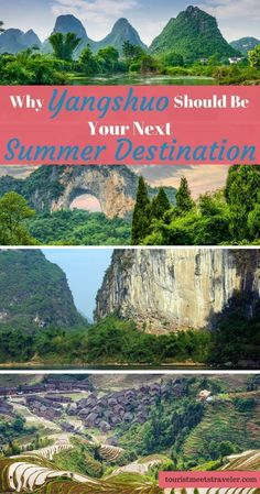 Planning to trael to China. A must see destination is Yangshuo. From the Moon Hill, the rivers, the Banyan Trees and mountains Yangshuo is worth the visit. #chinadestination