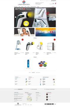 Bioptron   Menu strona www, sklep, internetowy, shop, online, template Website