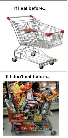 Grocery shopping...so true!