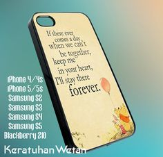 Winnie the pooh quotes for cell phone case by KeratuhanWetan, $14.00