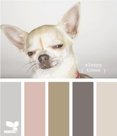 Sleepy tones...love this color combo for a room, card or craft project