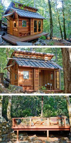 A beautiful tiny house cabin in Sonoma, California.