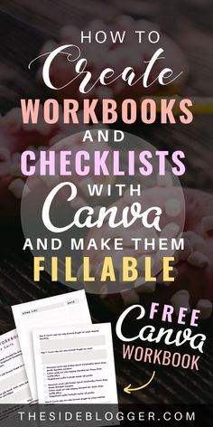 A Step by Step Guide to Creating Fillable Checklists and Workbooks with Canva Etsy Business, Online Business, Business Planning, Business Tips, Digital Marketing Strategy, Content Marketing, Social Marketing, Media Marketing, Affiliate Marketing