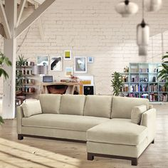 Need a sofa with more leg room? The Avalon 2pc Sectional Sofa is modern and perfect for lounging. With it's sleek arms and solid wrap around wood base, this sof