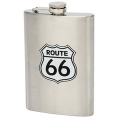 Maxam® 8oz Stainless Steel Route 66 Hip Flask #Maxam