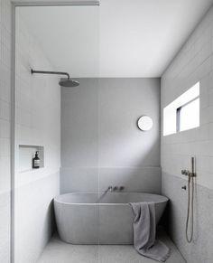 Home Decor Kitchen .Home Decor Kitchen Concrete Bathtub, Concrete Basin, Bathroom Renos, Bathroom Renovations, Master Bathrooms, Bathroom Ideas, Wet Room Bathroom, Bathroom Wall Lights, Light Bathroom