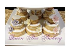 Wedding Cake Cookies Wedding cake cookies Sugar paste flowers and