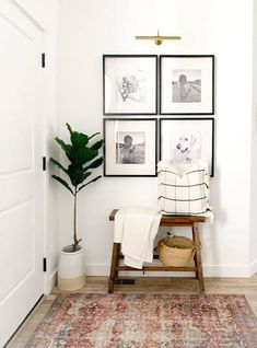 Small Entryway Bench, Narrow Bench, Entryway Wall Decor, Entryway Bench Storage, Rustic Entryway, Cheap Wall Decor, Cheap Home Decor, Kitchen Entryway Ideas, Small Apartment Entryway