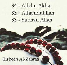 tasbeeh fatima