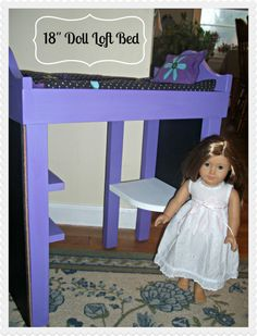 """Hometalk :: 18"""" Doll Loft Beds Inspired by American Girl Doll Furniture"""