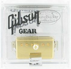 "Gibson BurstBucker #2 Alnico II Humbucker - Gold by Gibson. $115.99. It would be a big mistake to assume that all humbuckers sound alike. Truth is, there are a number of Gibson humbucking pickups available, and each one has its own distinctive personality. The BurstBucker Series delivers all the classic vibe of the mythical ""patent applied for"" (PAF) humbuckers, best known from the 1959 Les Paul Standard. All three BurstBuckers have unpolished magnets and non-potted..."