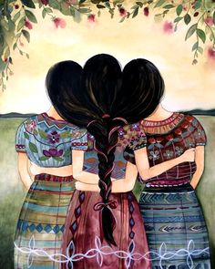 Guatemalan sisters art print от claudiatremblay на Etsy