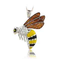 14K Solid Gold Bee Pendant Necklace #BeeloGold #Pendant