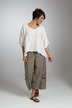 Pucker Popover Top: Noblu Clothing: Knit Top - Artful Home