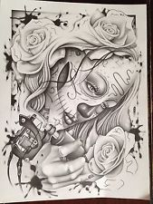 "Original Prison Art ""Tattoo Of The Dead"" Eric Hansen Of King Concepts 31"
