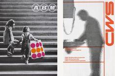 Atelier Ursula Hiestand, ABM, 1985, Museum für Gestaltung Zürich, Poster Collection. Right: René Martinelli, CWS, 1959-1990, Museum für Gestaltung Zürich, Graphics Collection