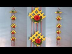 How to make a wall hanging with ice cream stick. Best out of waste ice cream stick. - YouTube
