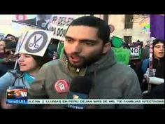 España: estudiantes protestan en contra de reforma educativa - YouTube