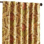 Woven Floral Window Panel