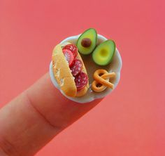 mini food sculptures