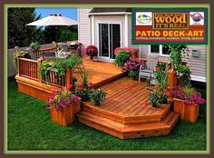 Like this two-level deck and the open stairs