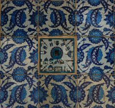 Tile detail from Rüstem Pasha Mosque, Istanbul
