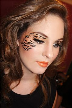 Tiger Animal Halloween Makeup