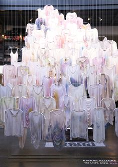 Absolutely love this installation, and the way Raquel Allegra works with materials and dyes. Beautiful!